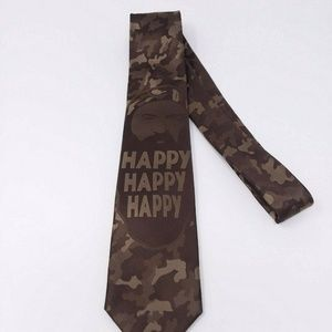 "DUCK DYNASTY Phil Men's Camo Neck Tie ""Happy"""